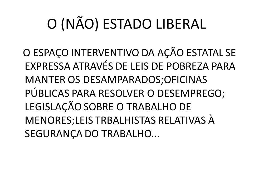 O (NÃO) ESTADO LIBERAL