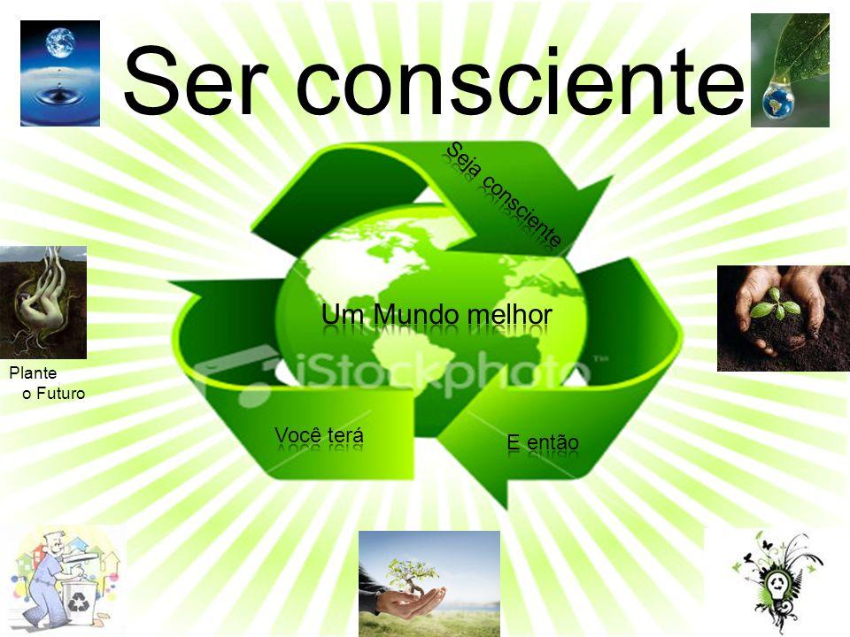 Ser consciente Um Mundo melhor Seja consciente Você terá E então