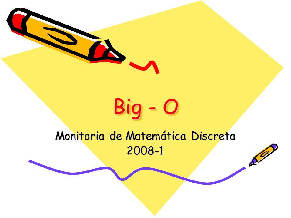 Monitoria de Matemática Discreta 2008-1