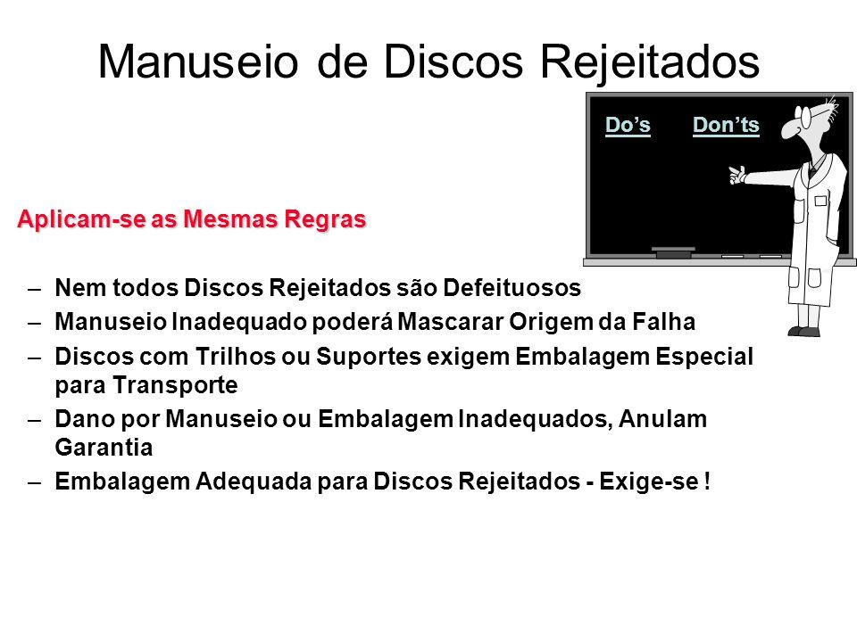 Manuseio de Discos Rejeitados