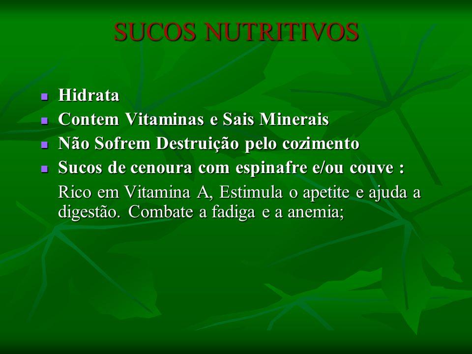SUCOS NUTRITIVOS Hidrata Contem Vitaminas e Sais Minerais
