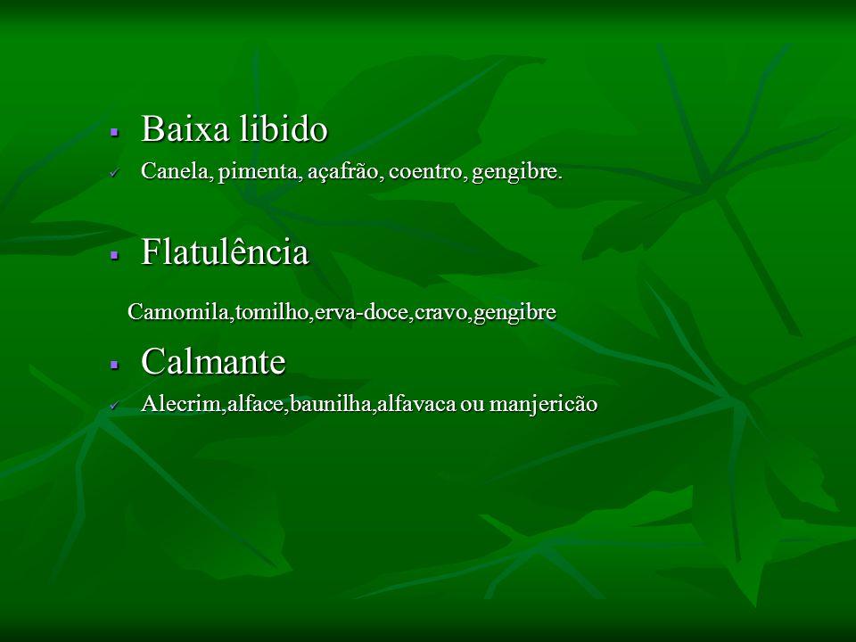 Camomila,tomilho,erva-doce,cravo,gengibre Calmante