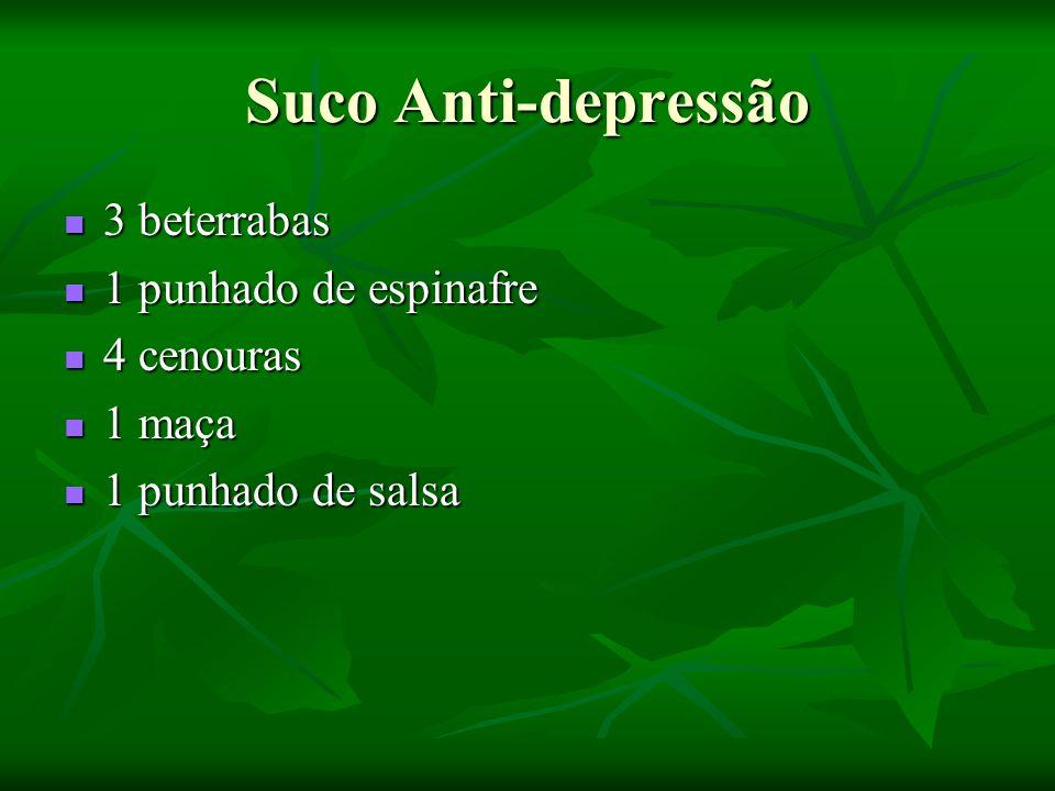 Suco Anti-depressão 3 beterrabas 1 punhado de espinafre 4 cenouras