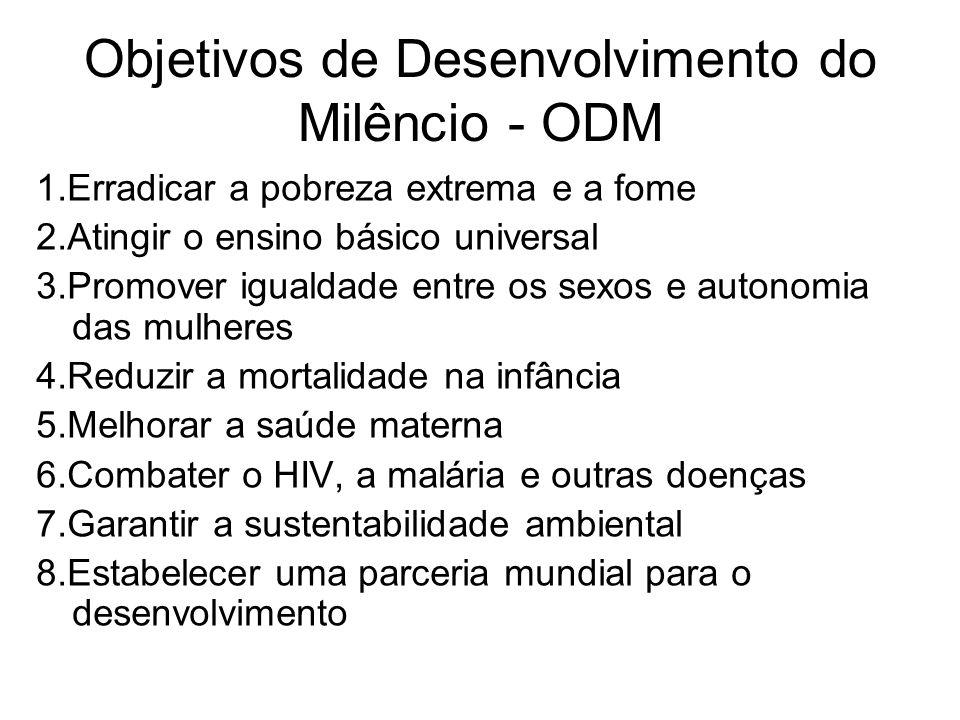 Objetivos de Desenvolvimento do Milêncio - ODM