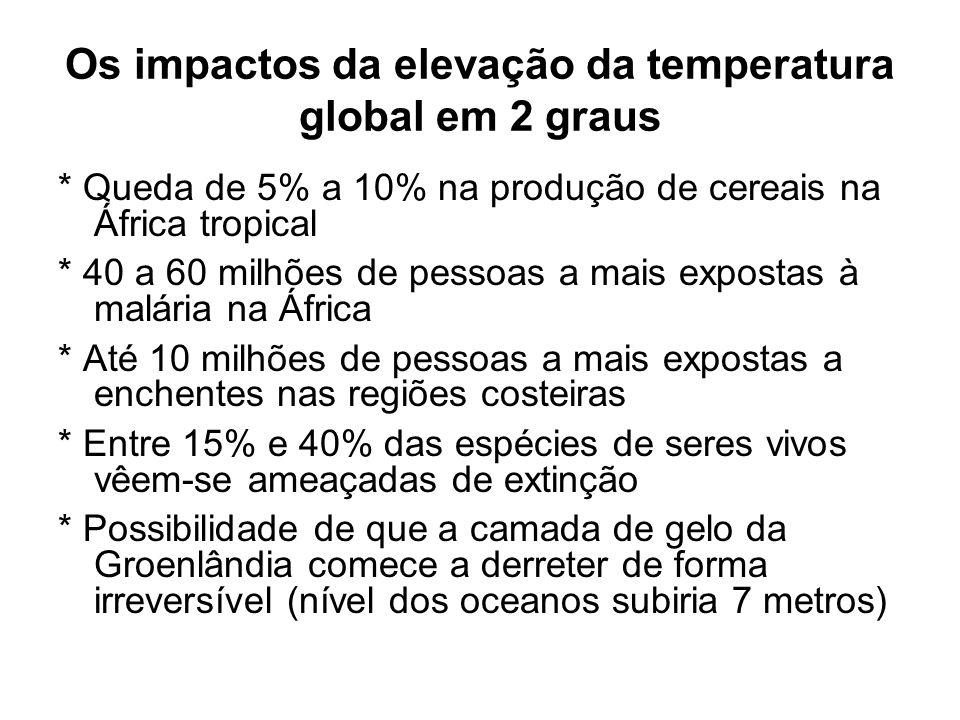 Os impactos da elevação da temperatura global em 2 graus