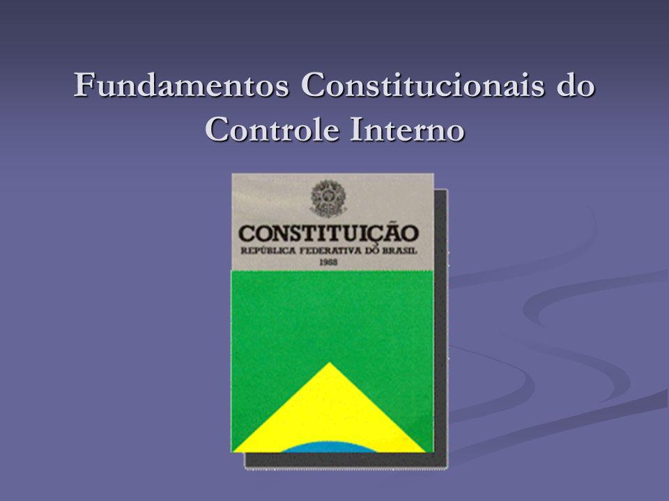 Fundamentos Constitucionais do Controle Interno