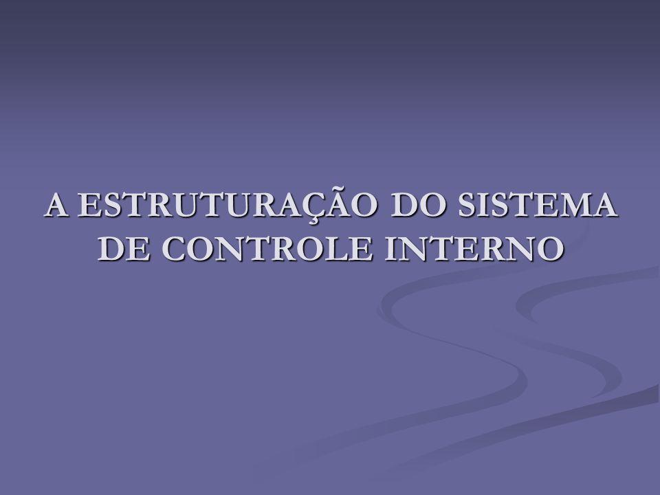 A ESTRUTURAÇÃO DO SISTEMA DE CONTROLE INTERNO