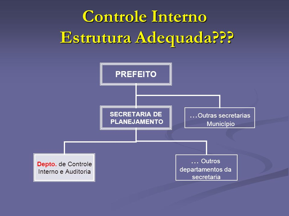 Controle Interno Estrutura Adequada
