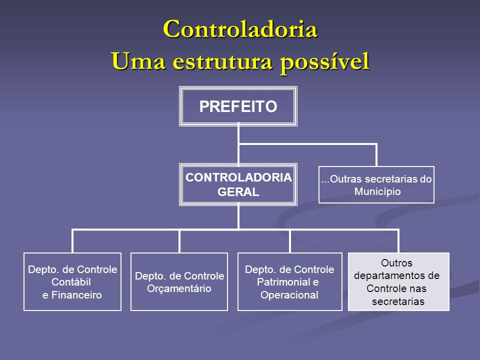 Controladoria Uma estrutura possível