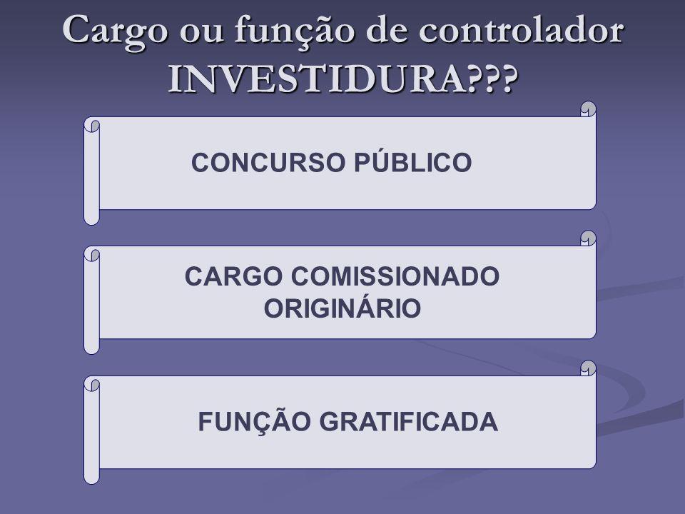 Cargo ou função de controlador INVESTIDURA