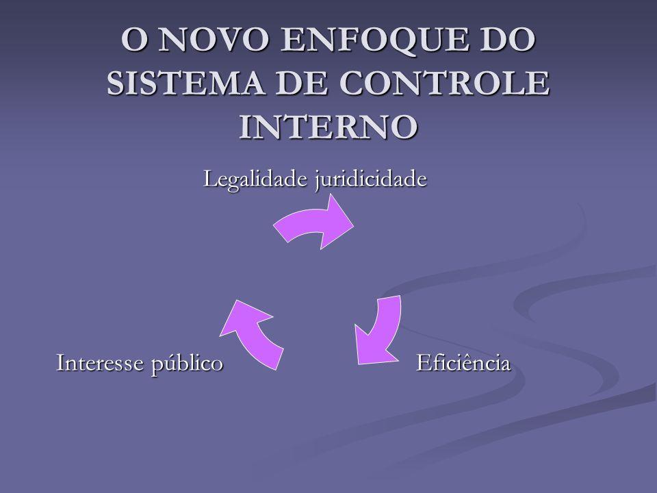 O NOVO ENFOQUE DO SISTEMA DE CONTROLE INTERNO