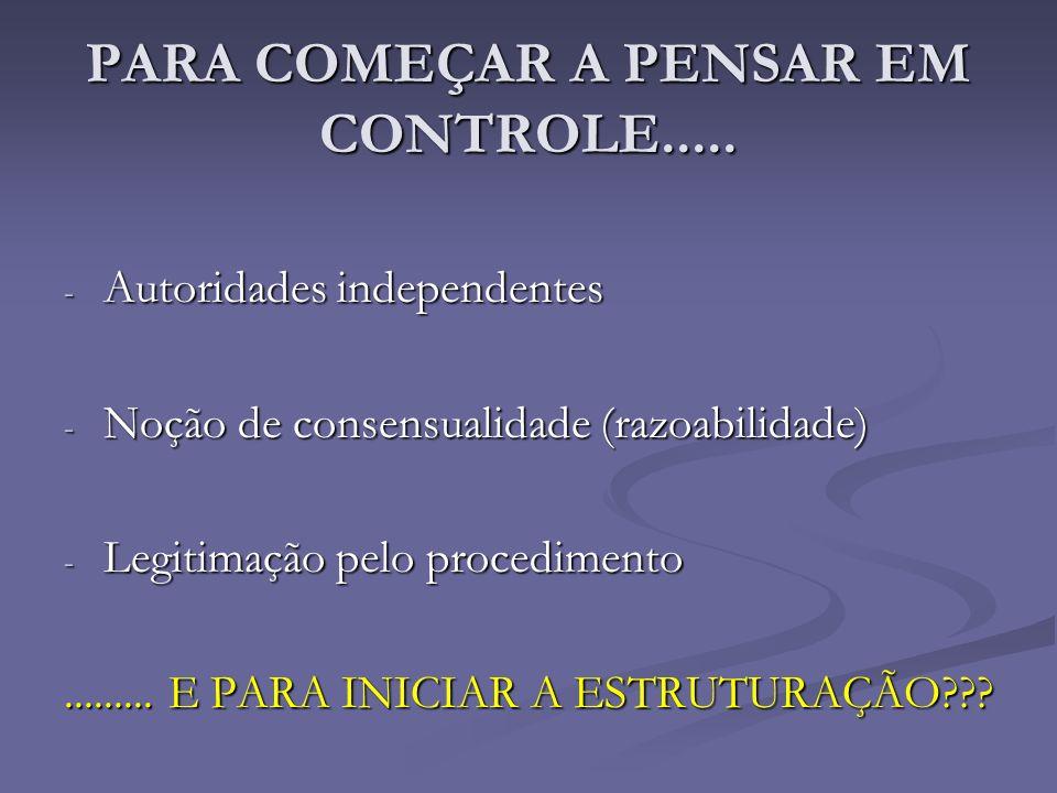 PARA COMEÇAR A PENSAR EM CONTROLE.....