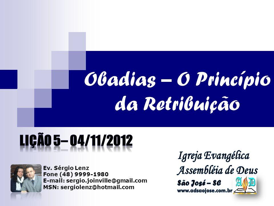 Obadias – O Princípio da Retribuição