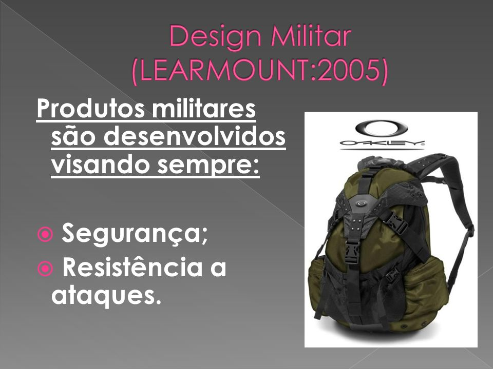 Design Militar (LEARMOUNT:2005)