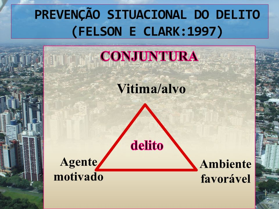 PREVENÇÃO SITUACIONAL DO DELITO (FELSON E CLARK:1997)