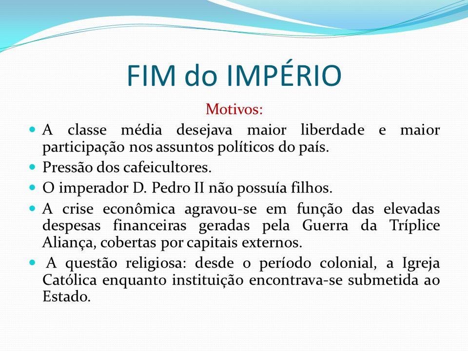 FIM do IMPÉRIO Motivos: