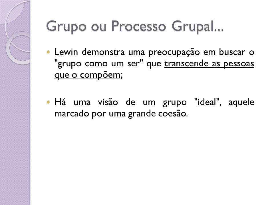 Grupo ou Processo Grupal...