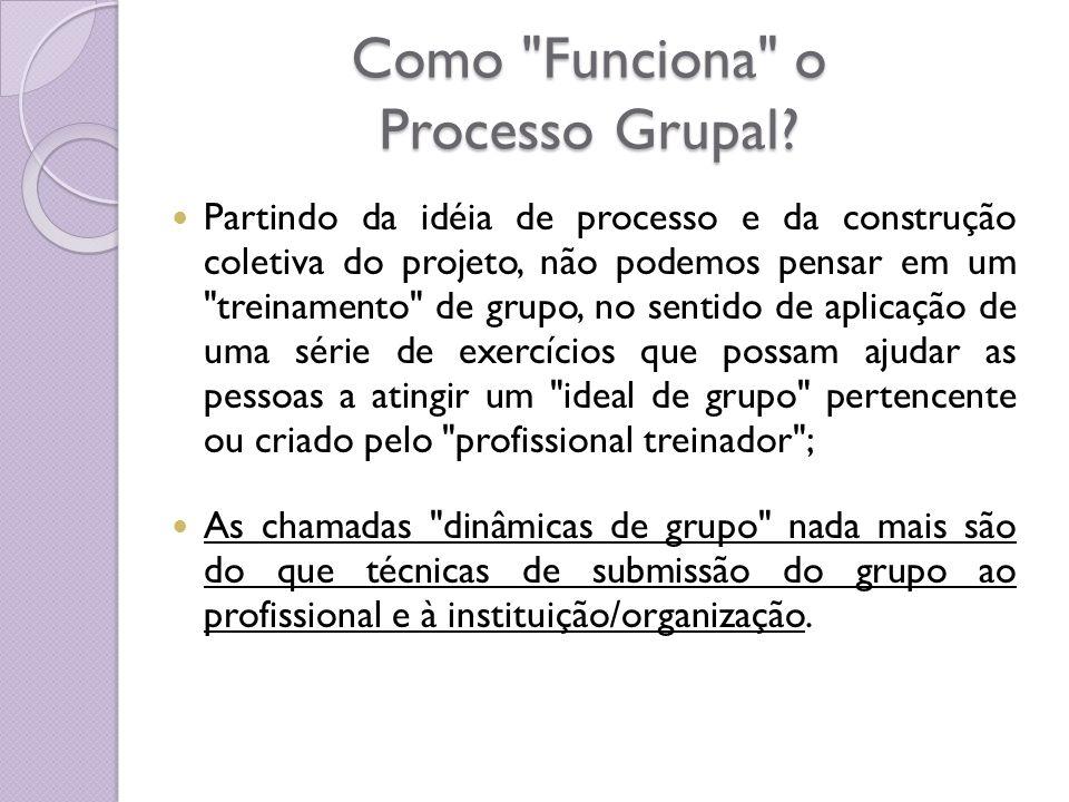 Como Funciona o Processo Grupal