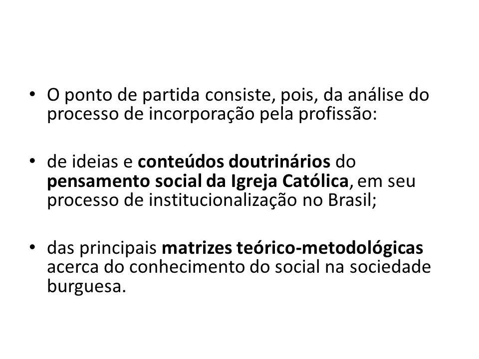 O ponto de partida consiste, pois, da análise do processo de incorporação pela profissão: