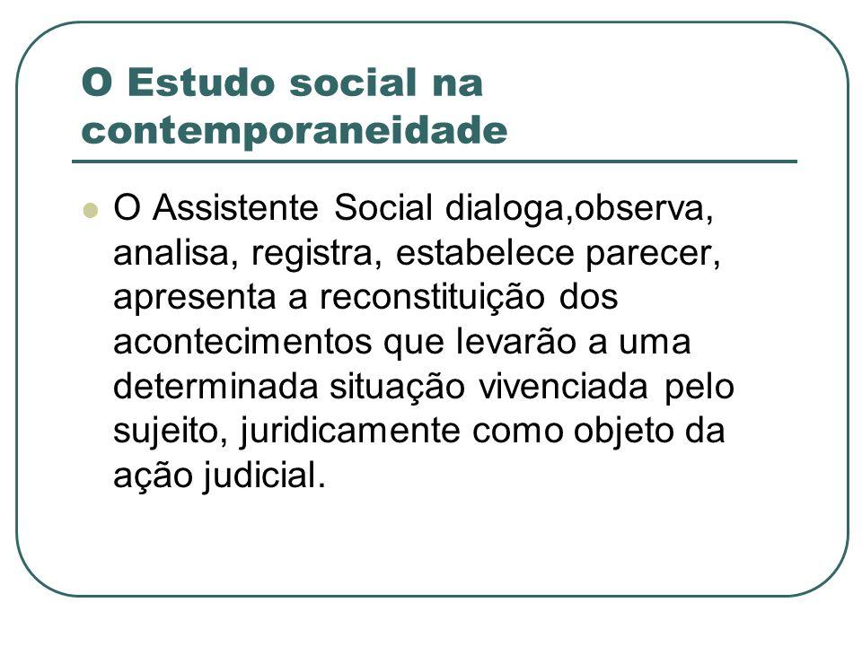 O Estudo social na contemporaneidade