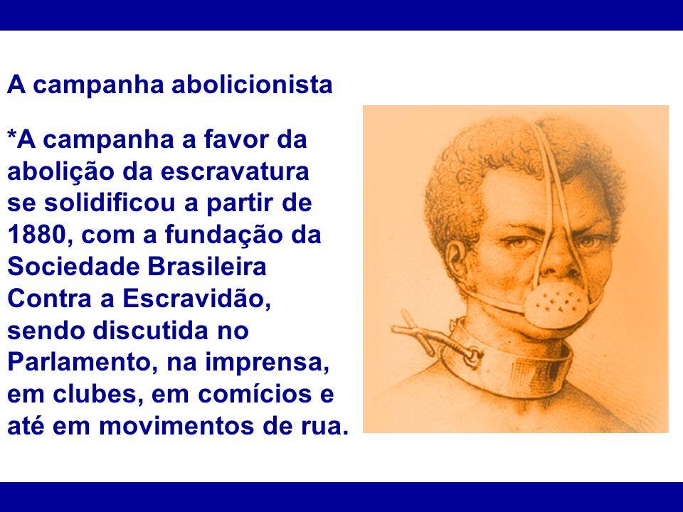 A campanha abolicionista