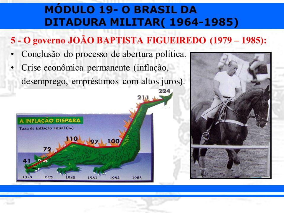 5 - O governo JOÃO BAPTISTA FIGUEIREDO (1979 – 1985):