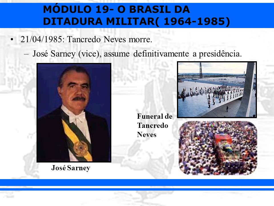 21/04/1985: Tancredo Neves morre.