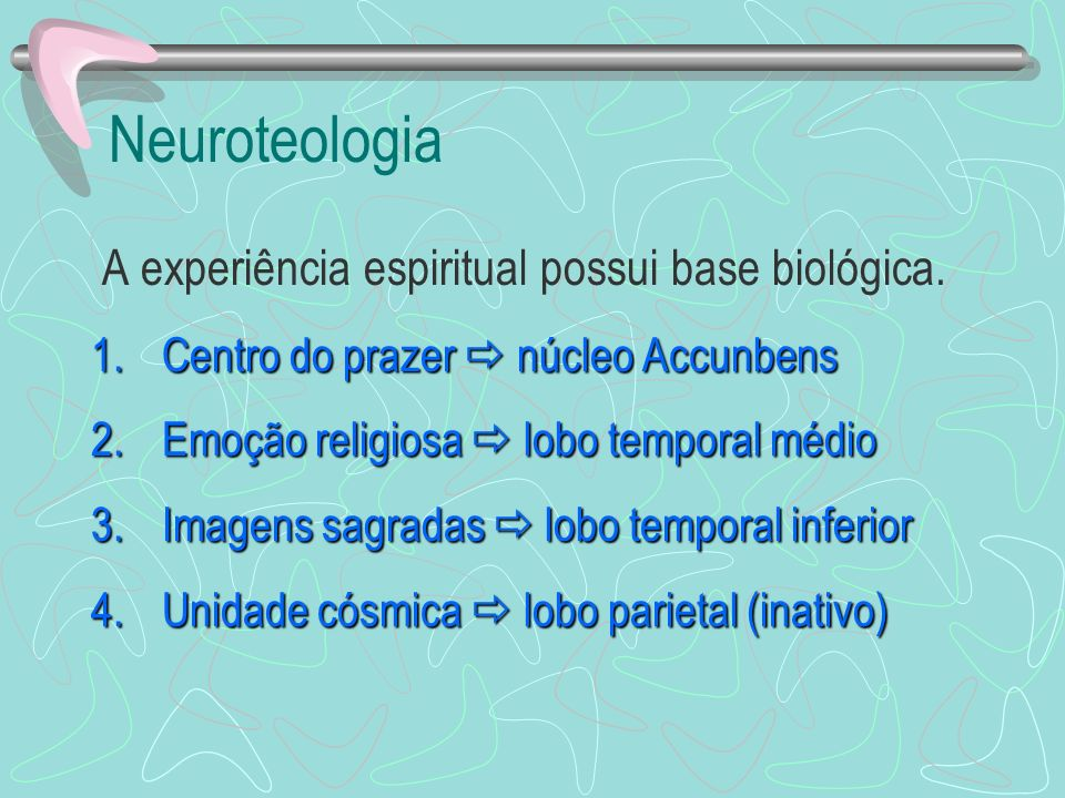 Neuroteologia A experiência espiritual possui base biológica.