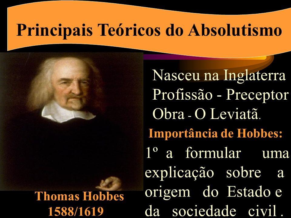 Principais Teóricos do Absolutismo