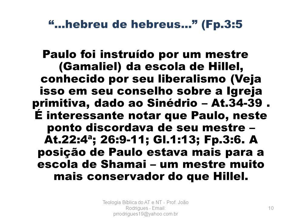 . hebreu de hebreus. (Fp