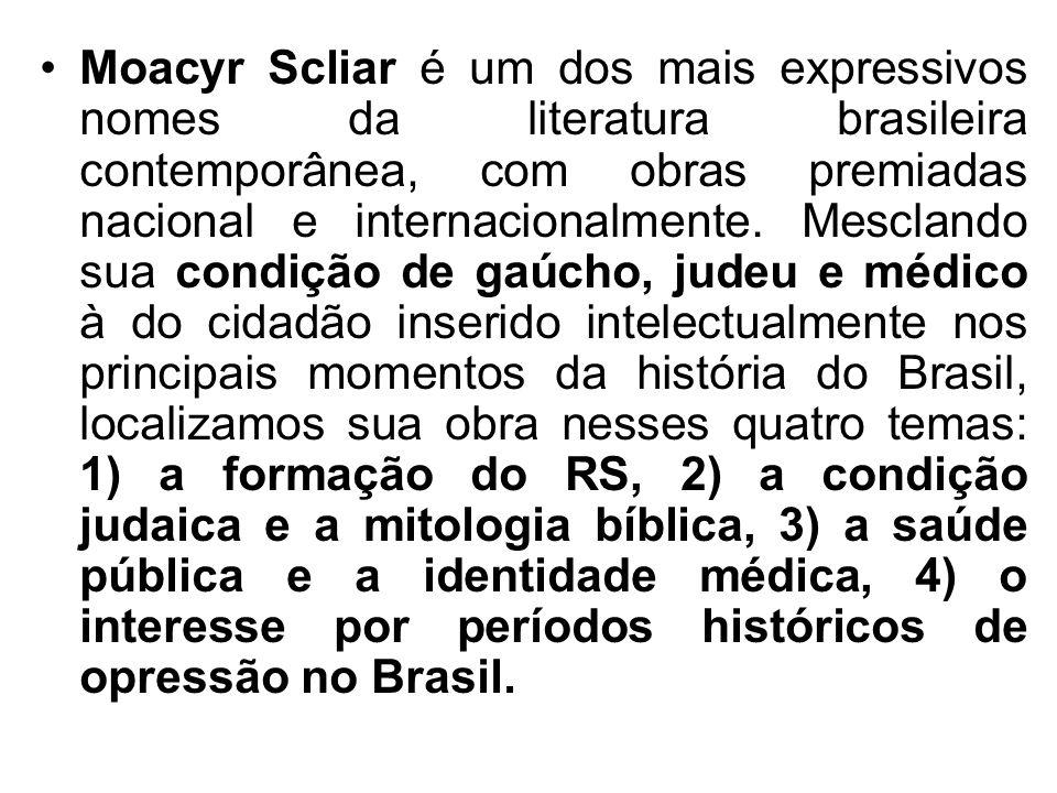 Moacyr Scliar é um dos mais expressivos nomes da literatura brasileira contemporânea, com obras premiadas nacional e internacionalmente.