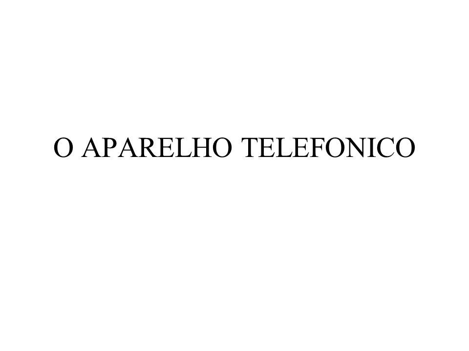 O APARELHO TELEFONICO