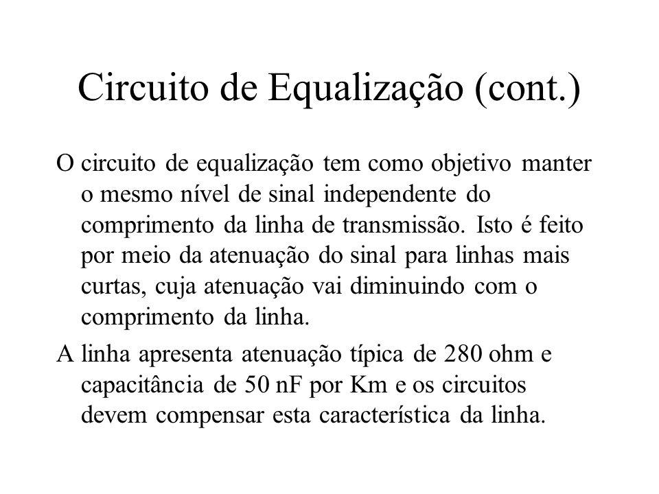 Circuito de Equalização (cont.)