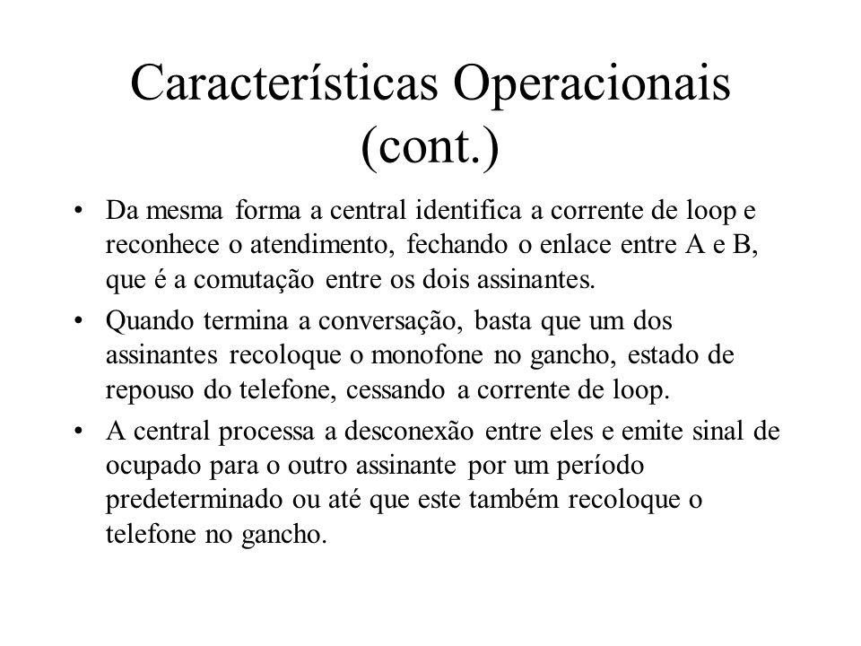 Características Operacionais (cont.)