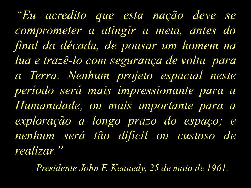 Presidente John F. Kennedy, 25 de maio de 1961.