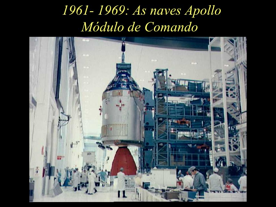 1961- 1969: As naves Apollo Módulo de Comando