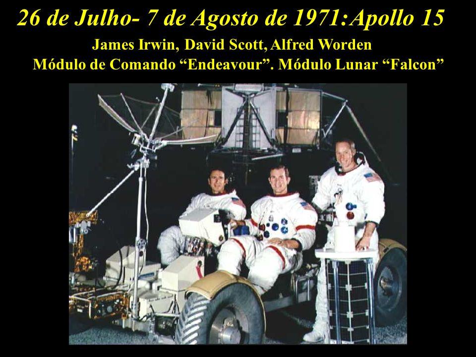 26 de Julho- 7 de Agosto de 1971: Apollo 15