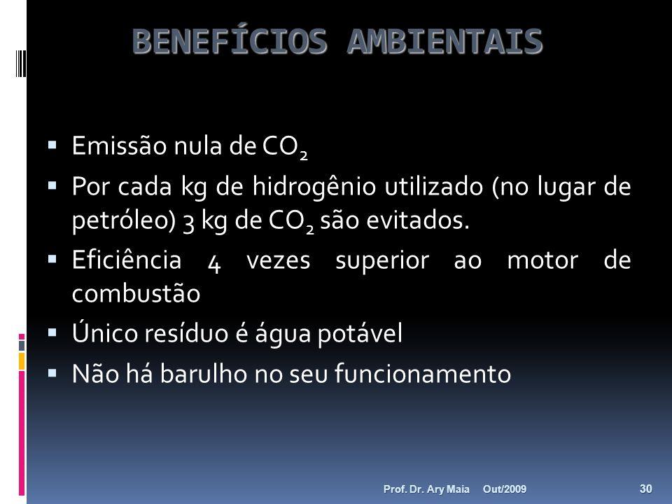 BENEFÍCIOS AMBIENTAIS