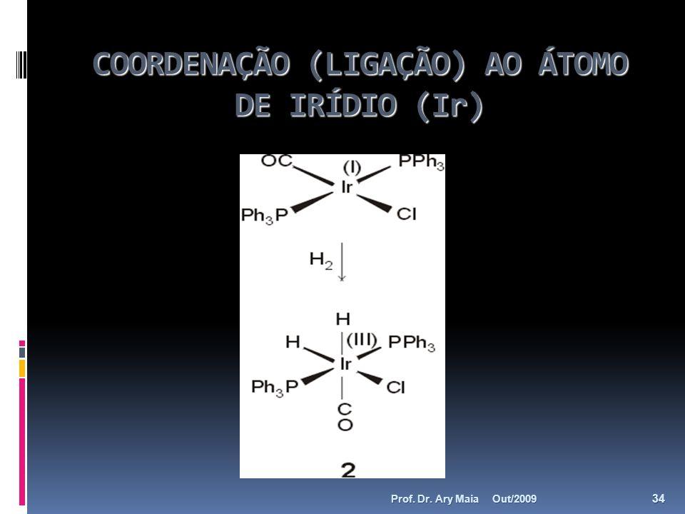 COORDENAÇÃO (LIGAÇÃO) AO ÁTOMO DE IRÍDIO (Ir)