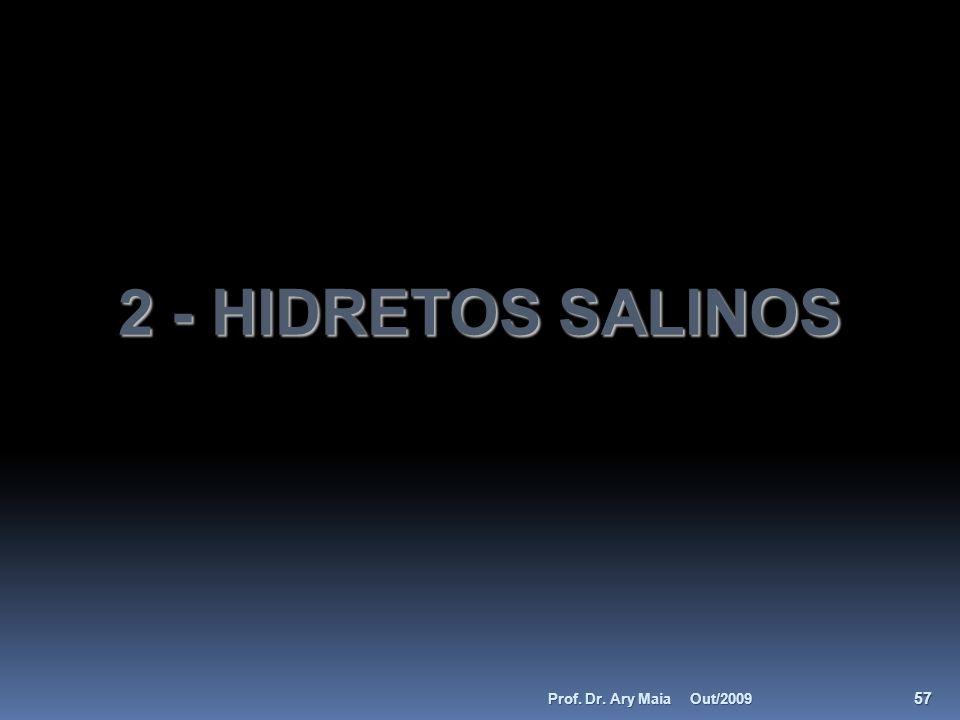 2 - HIDRETOS SALINOS Prof. Dr. Ary Maia Out/2009