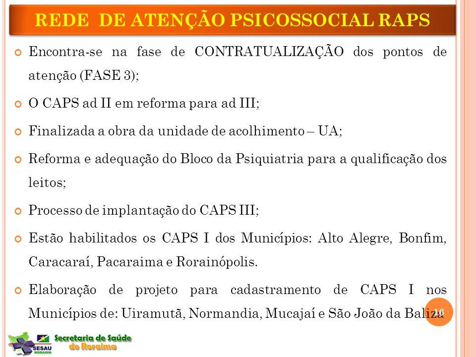 REDE DE ATENÇÃO PSICOSSOCIAL RAPS