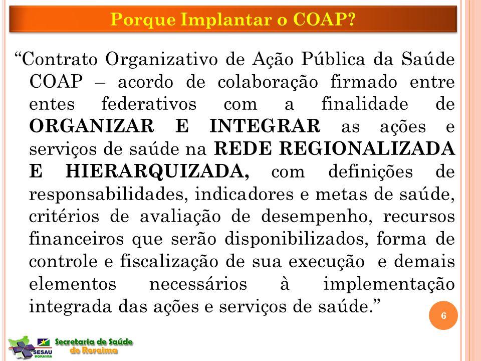 Porque Implantar o COAP