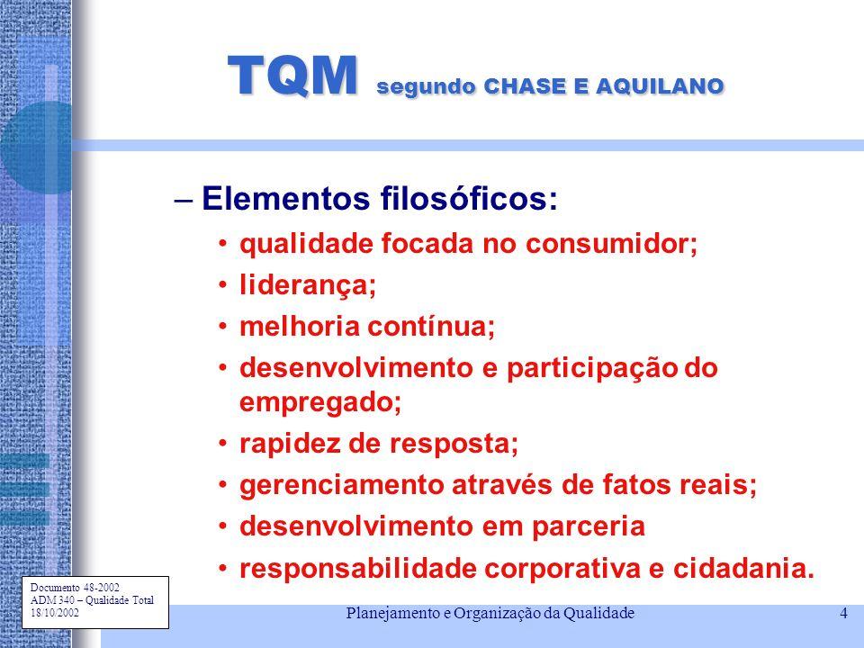 TQM segundo CHASE E AQUILANO