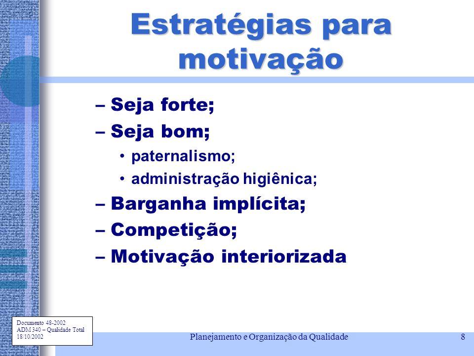 Estratégias para motivação