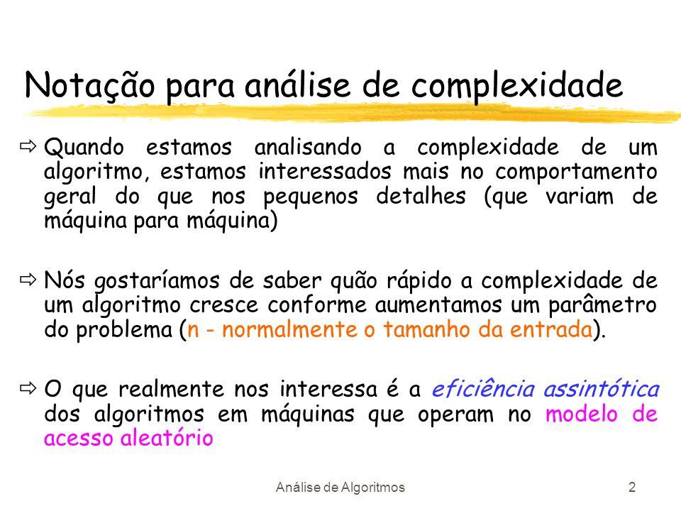Notação para análise de complexidade