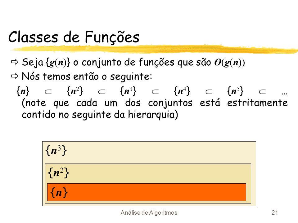 Classes de Funções {n3} {n2} {n}
