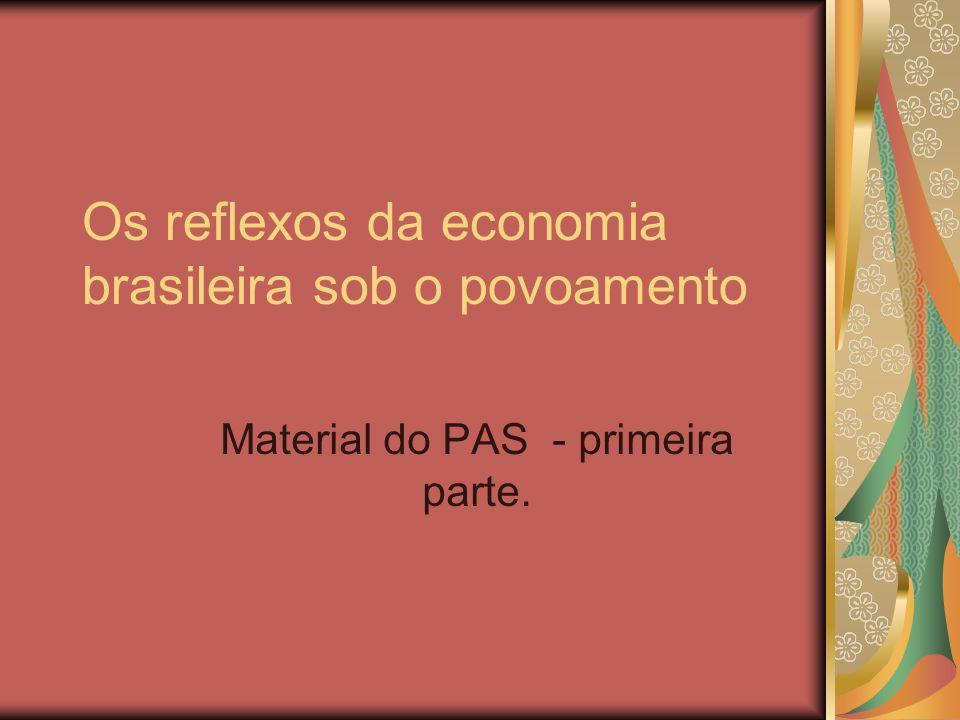 Os reflexos da economia brasileira sob o povoamento