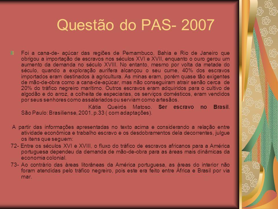 Questão do PAS- 2007