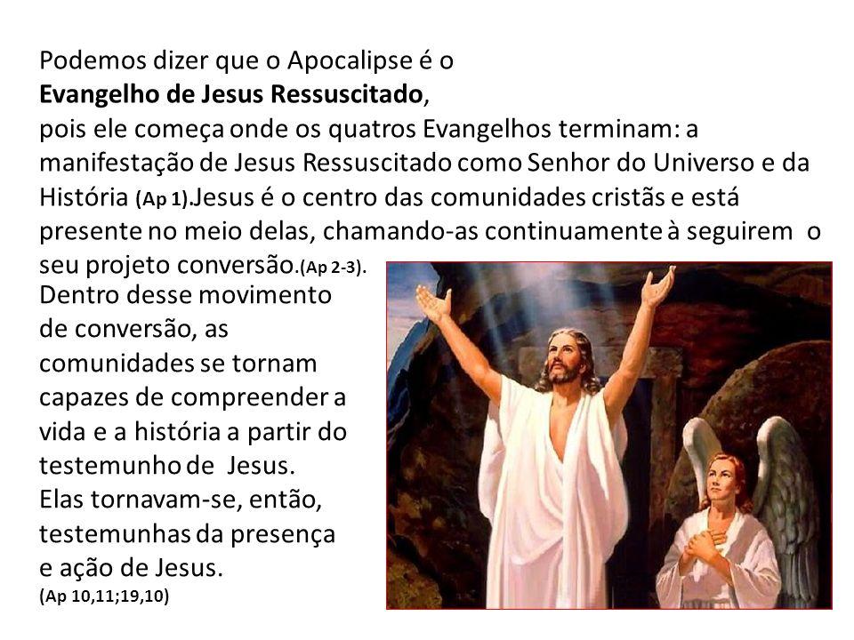Podemos dizer que o Apocalipse é o Evangelho de Jesus Ressuscitado,