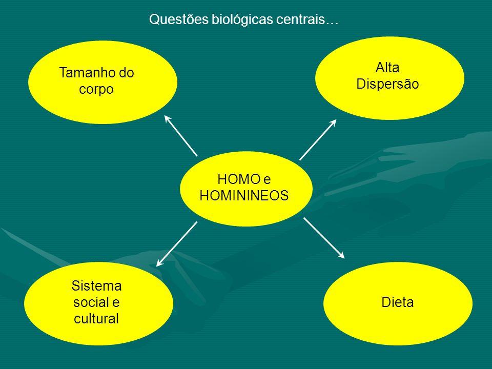 Questões biológicas centrais…